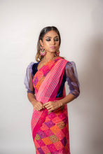 Load image into Gallery viewer, Squares Multi Coloured - Semi Stitched Saree