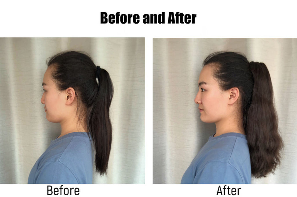 ponytail-extension-befor-and-after