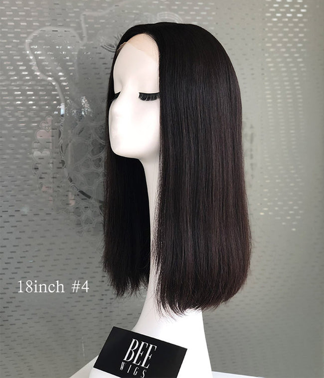 Exclusive Line Skin Top Attached Lace Front Brazilian Hair Wigs