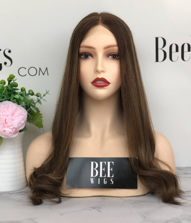 21 inches Lace Top Wigs with Highlights