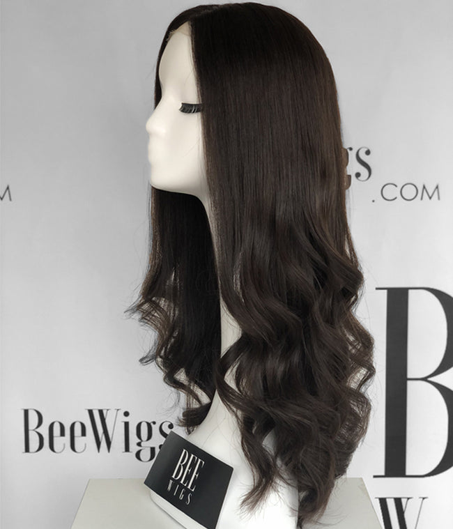 Lace Top Wig Long Layered Hair Waves Hairstyle