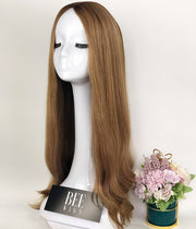 26 Inch Extra Long Blonde Human Hair Wigs With Silk Top