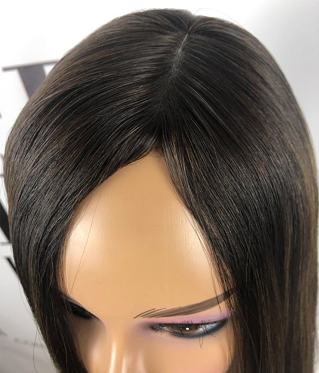 Long Straight Dark Brown Hair With Highlights