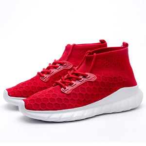 Sneakers Flying Woven Socks Shoes Breathable Sport Sneakers for Men