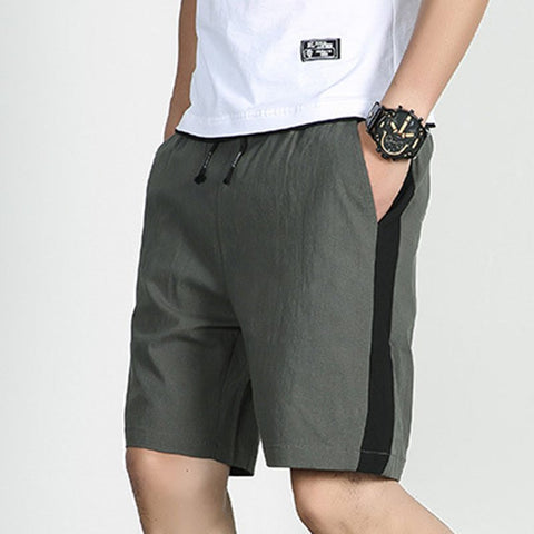 Men's Casual Sports Shorts Color-Block Beach Sweatshorts