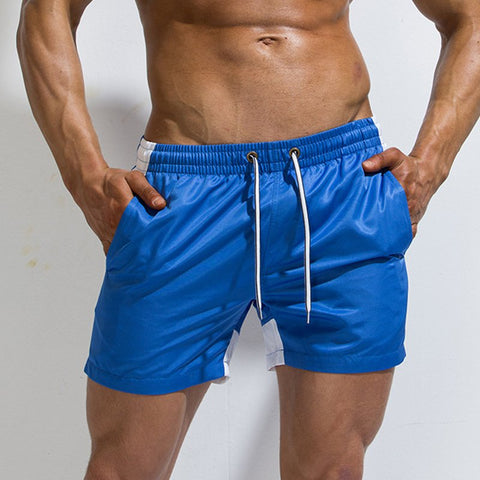 Men's Loose Beach Shorts Solid Color Casual Home Sports Shorts
