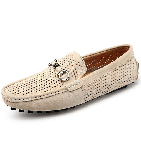 Hollow-out Flat Heel Artificial Leather Flats  Loafers