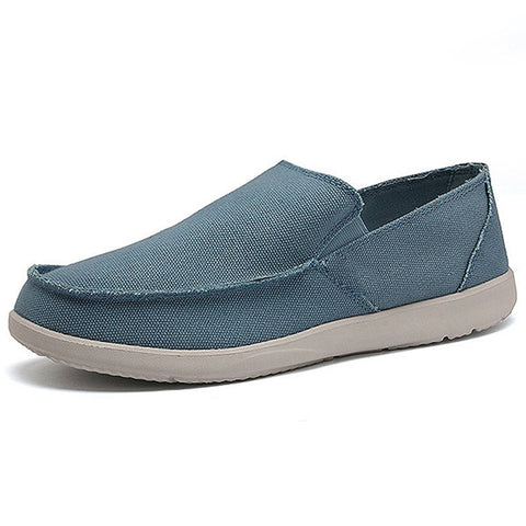 Men's Canvas Shoes Breathable Light Weight Slip On Casual Loafers