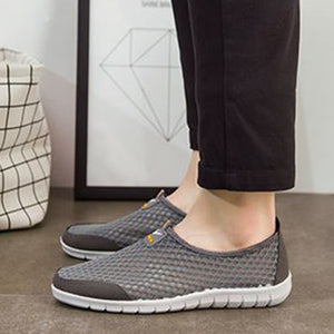 Sneakers for Men Slip On Casual Round Toe Shoes