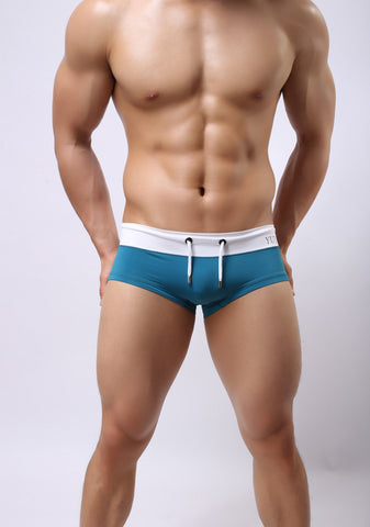 Sexy Summer Beach Swimming Breathable High Elastic Briefs Trunks for Men