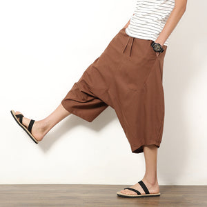 Fashion Folk Style Loose Casual Pants