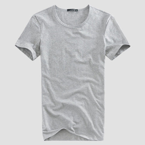 Men's Cotton Solid Color T-shirt