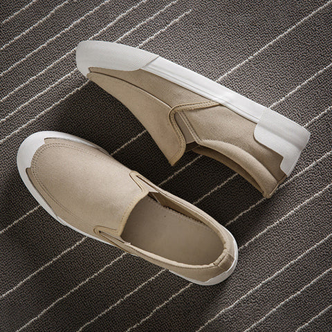 Canvas Slip-On Shoes Men Casual Flat Heel Summer Shoes