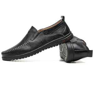 Mens Cow Leather Soft Sole Casual Shoes