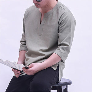 Finepercent Men's Vintage Plus Size Cotton T-Shirt