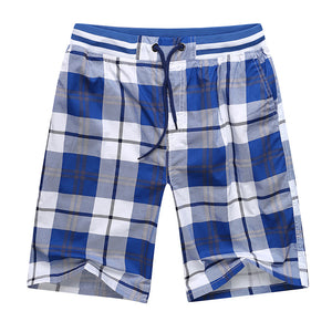 Plus Sizes L-5XL Men's Plaid Breathable Shorts