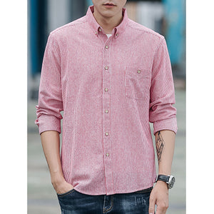 All Season Long Sleeve Cotton Striped Shirts & Tops For Men
