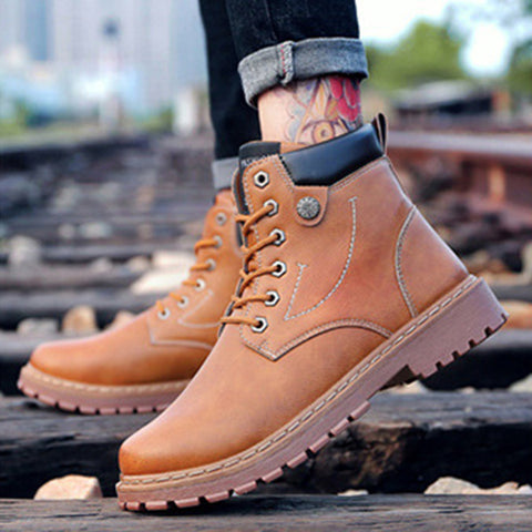 All Season Boots Vintage Boots Lace-up Men's shoes