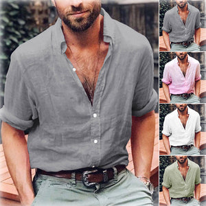 Casual Loose Breathable Cotton Shirt