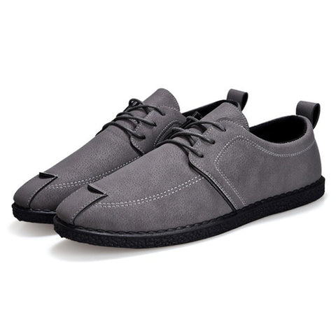Lace Up Soft Casual ShoesMen Pure Color  LoafersDailyShoes