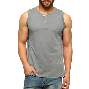 Men's Loose Sports Vest Solid Color Sleeveless Comfortable Vest