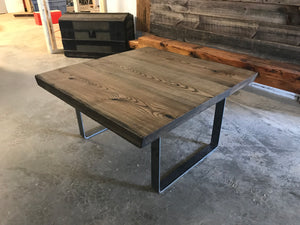 Oak Plank Dining Table with Black Rubio Finish