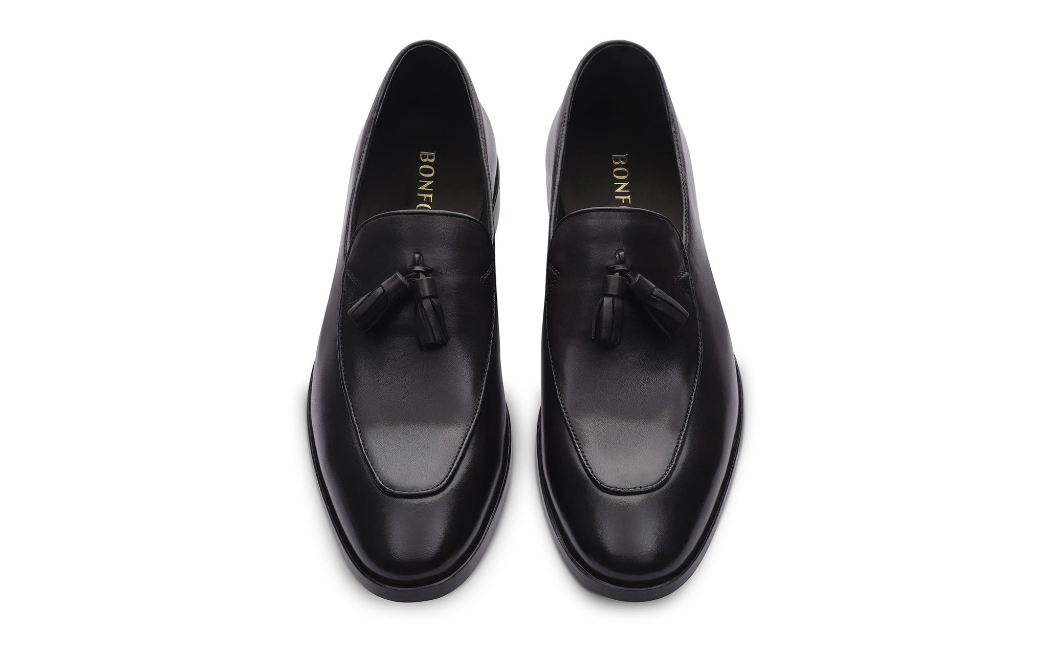 black leather loafer shoes for men