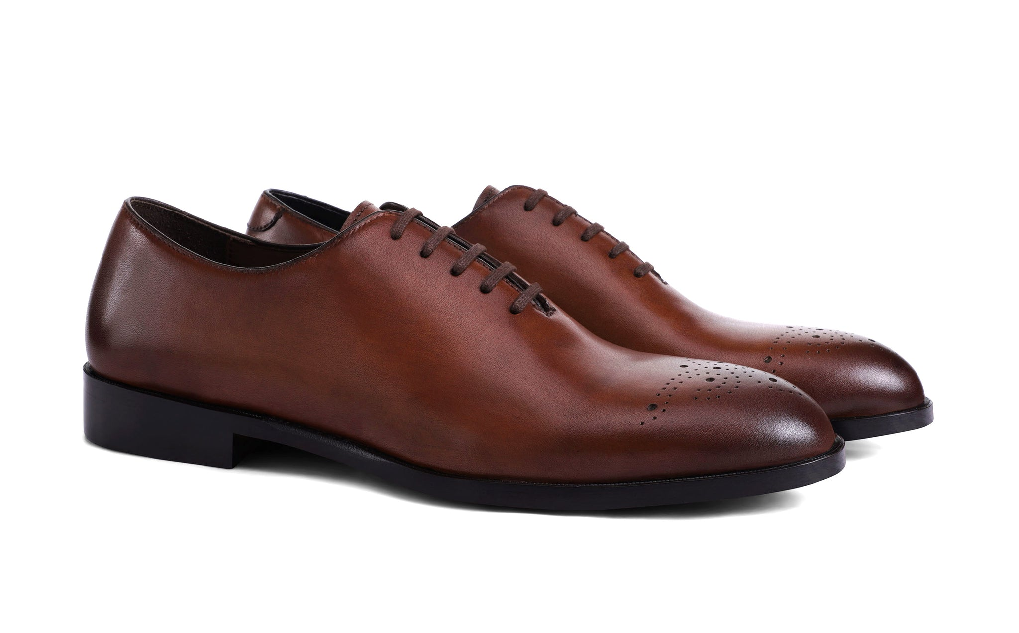 dark-tan-Italian-leather-shoes