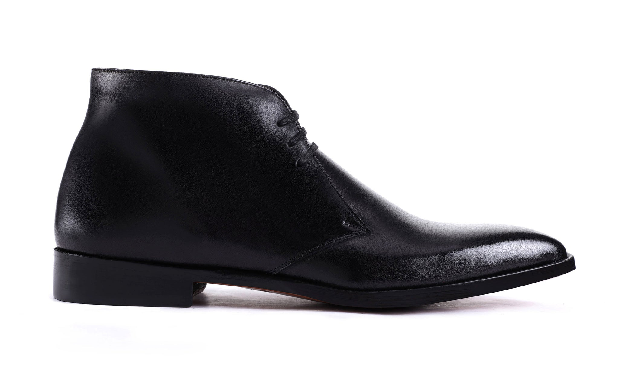 black leather chukka boots men