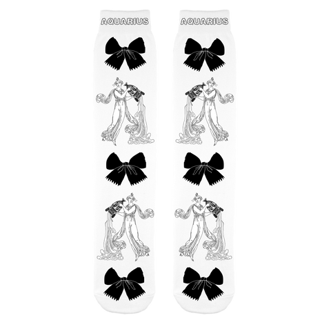 Aquarius Black & White Socks