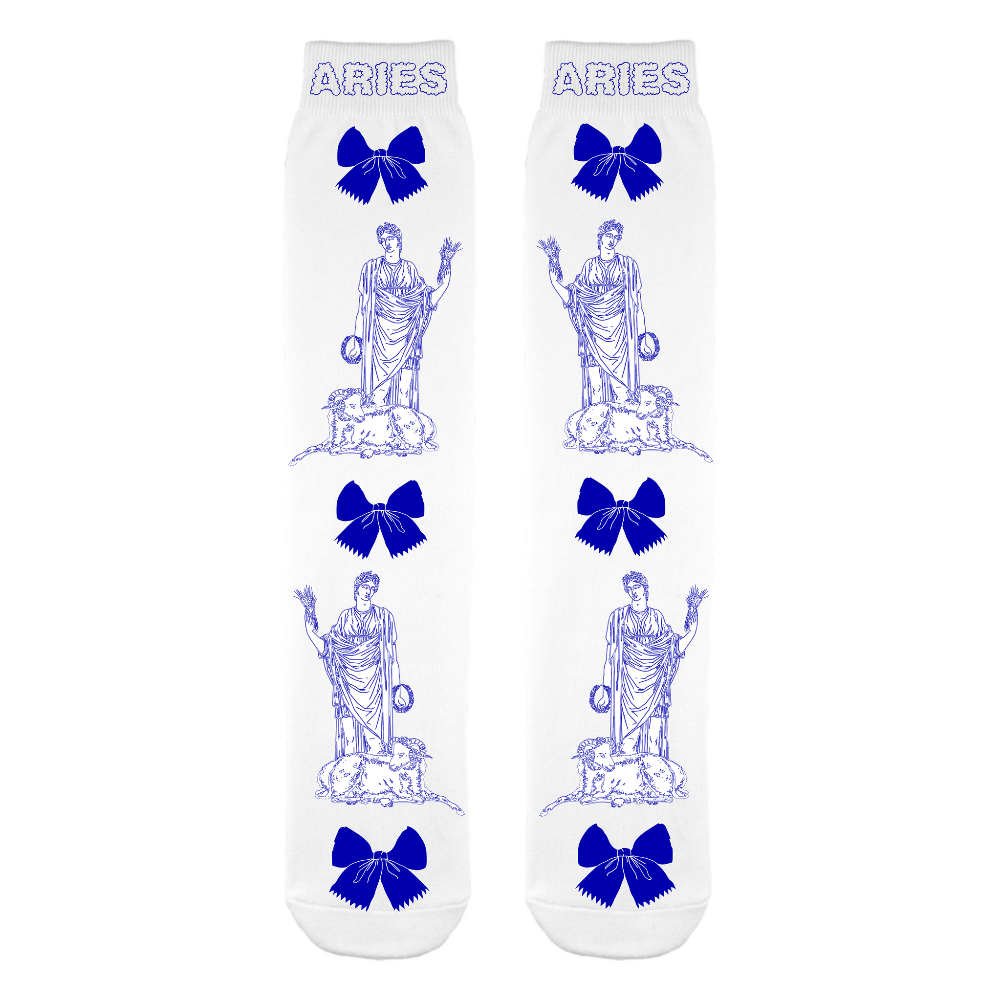 Aries Navy & White Socks