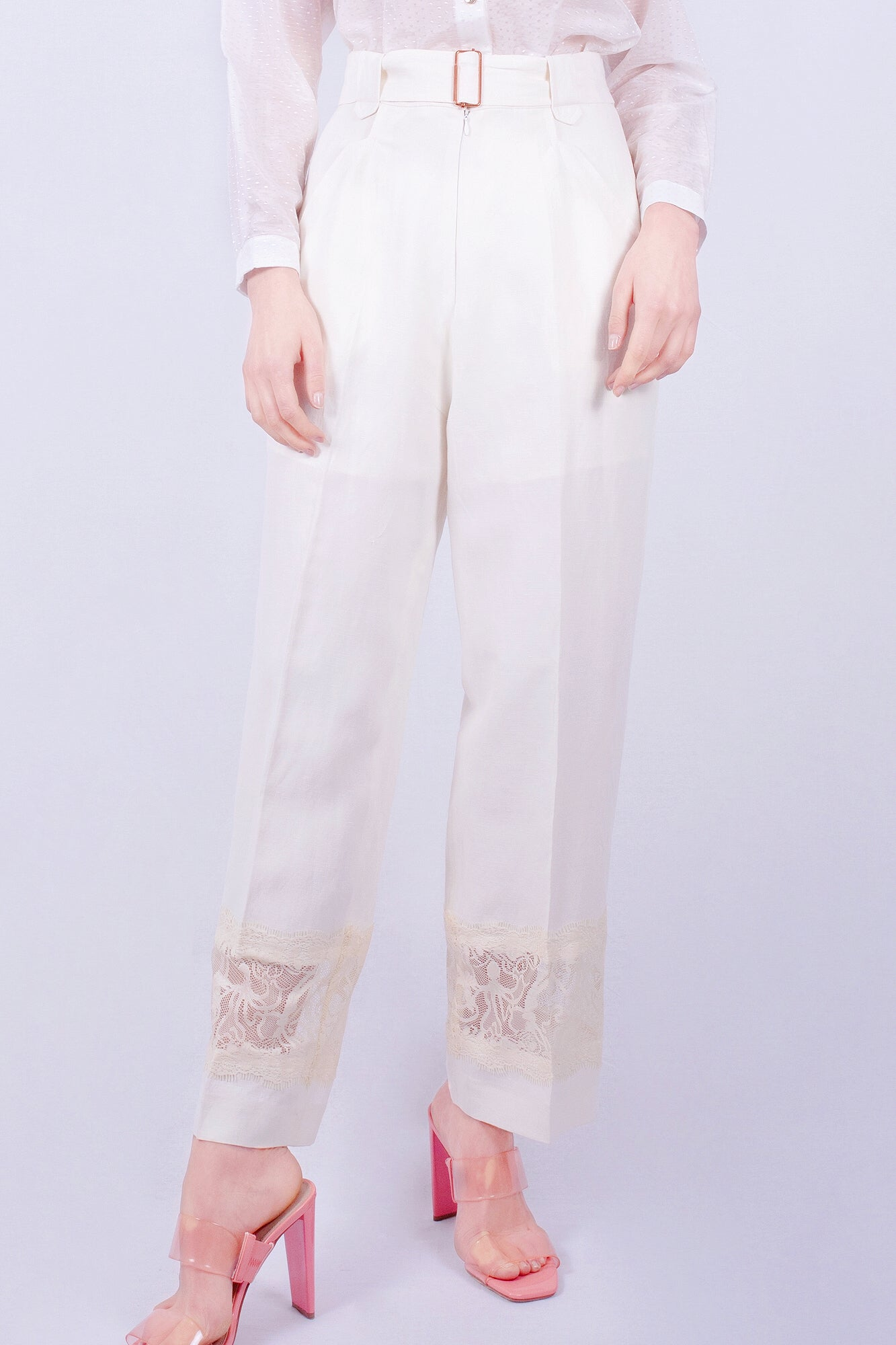 White Sand Beach Lace Suit Trousers