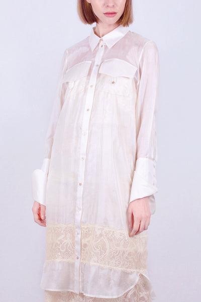 Aphrodite Foam Lace Shirt Dress