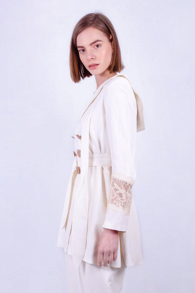 White Sand Beach Sailor Coat