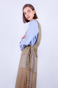 Olive Leaf Apron Top