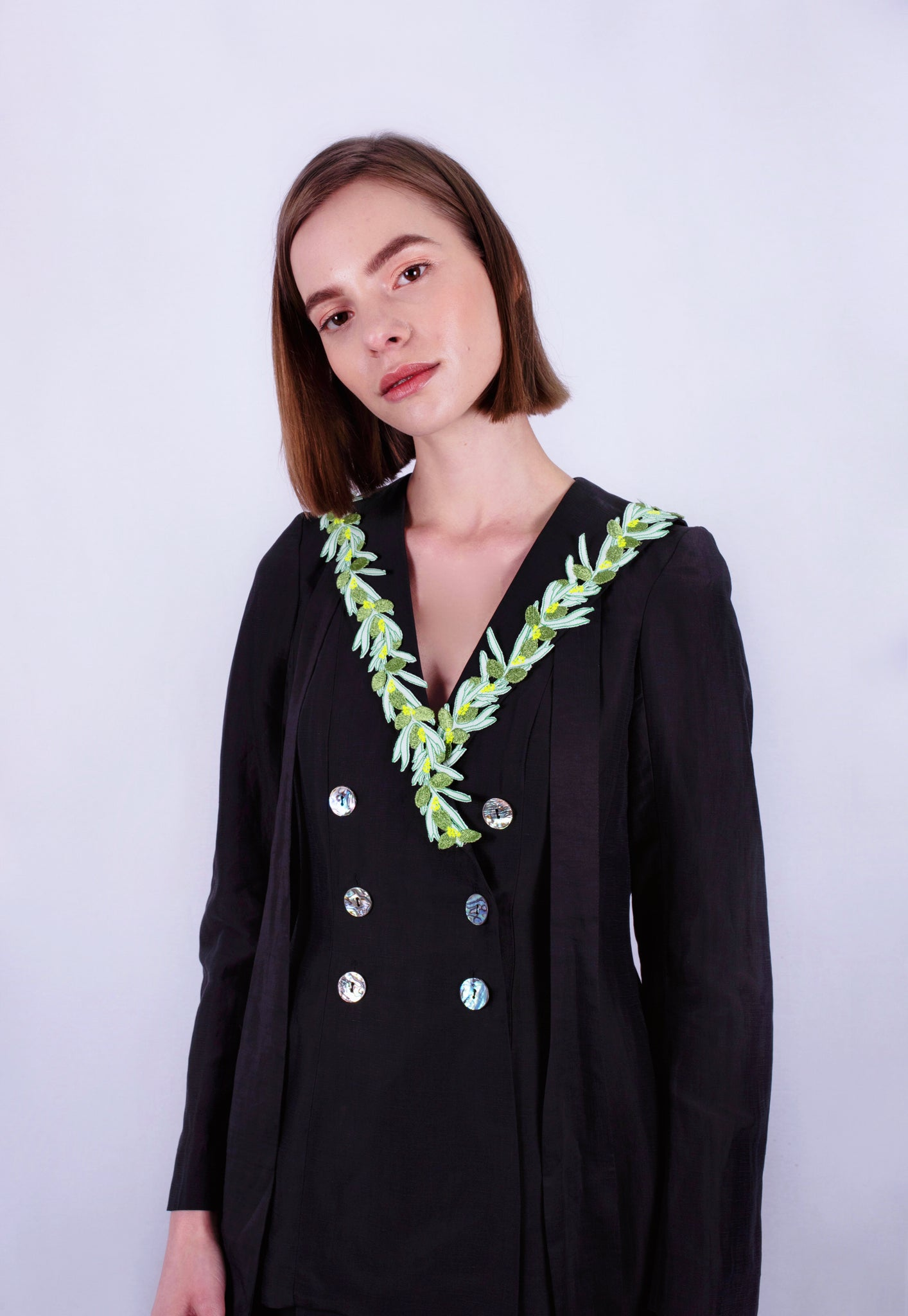 Olive Garland Suit Jacket