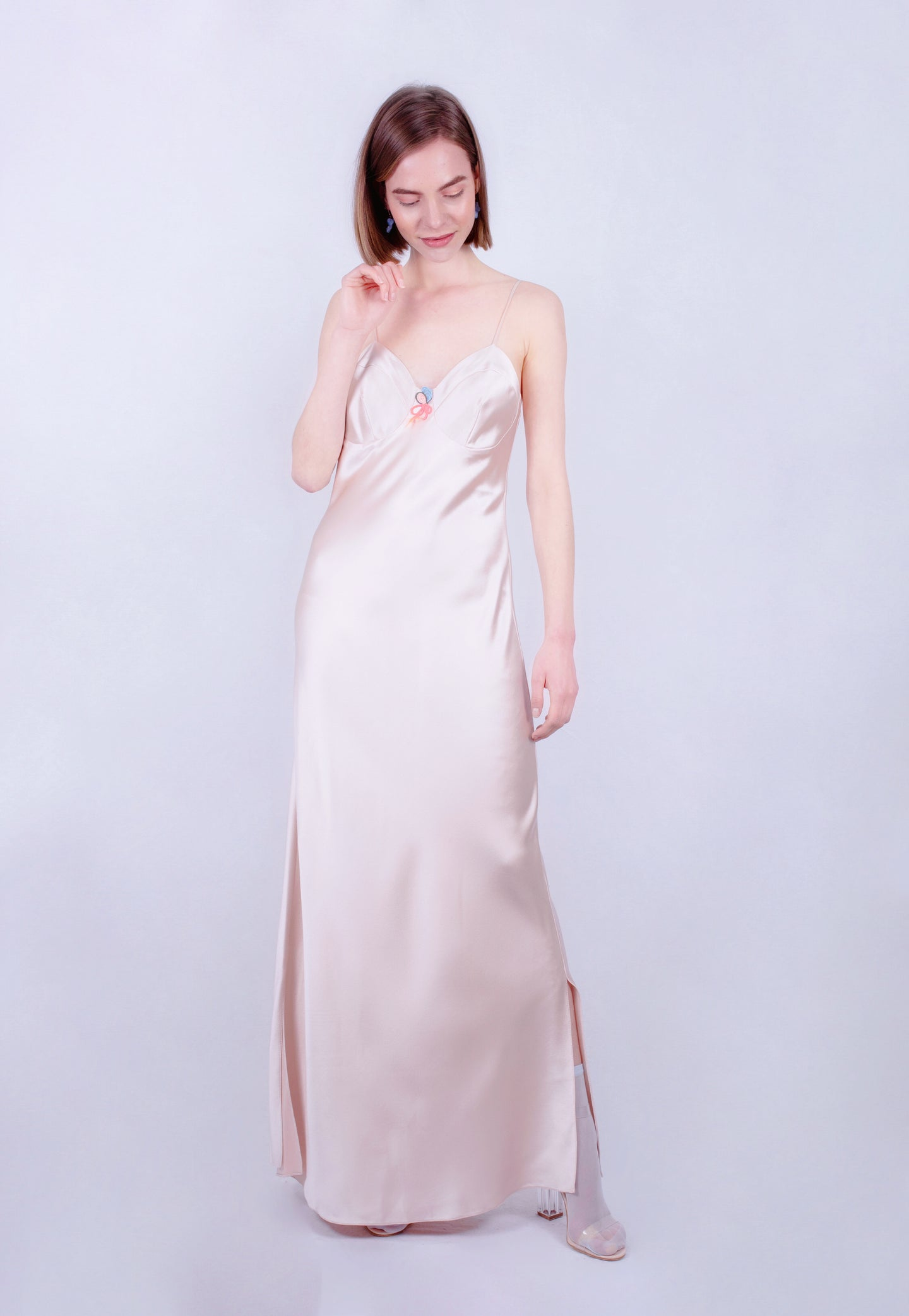 Holographic Oyster Maxi dress