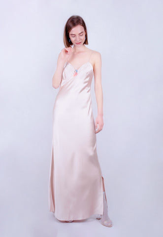 Oyster Bow Maxi Slip dress