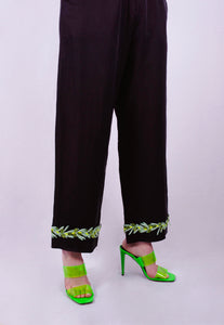 Olive Garland Suit Trousers