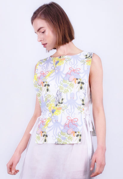 Octopus Bouquet Apron Top