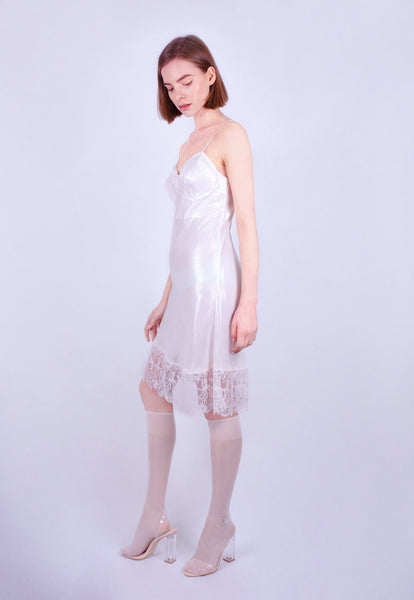 Prawn Pâté Lace Slip Dress