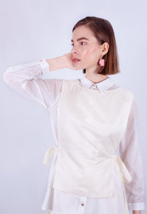 Holographic Hot Sand Apron Top