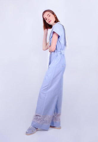 Blue Cloud Lace Jumpsuit