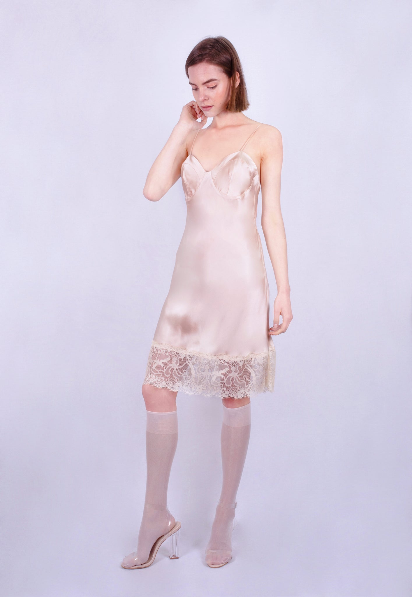 Aphrodite Lace Slip Dress