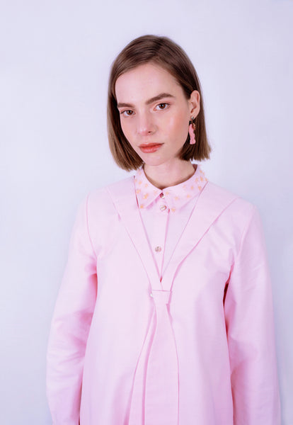Seashell Pink Sailor Collar