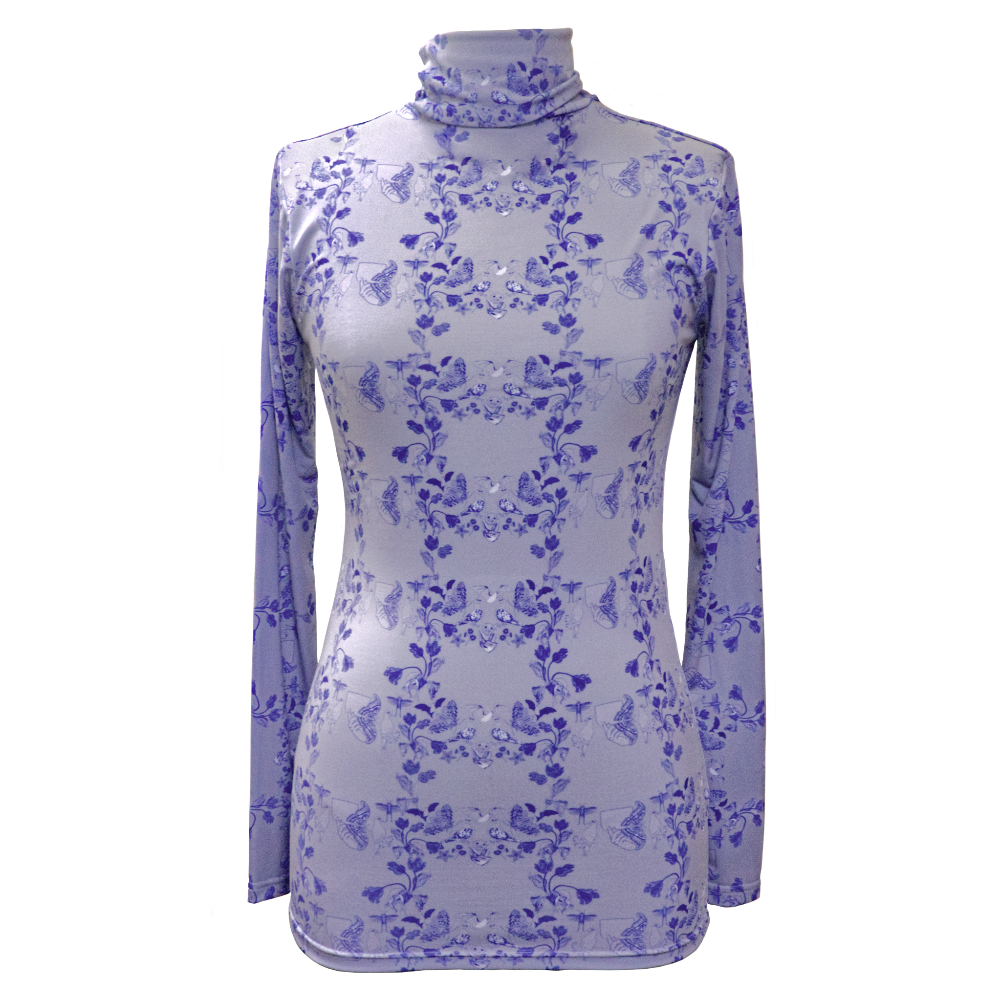 Dove Blue Tea Party Turtleneck
