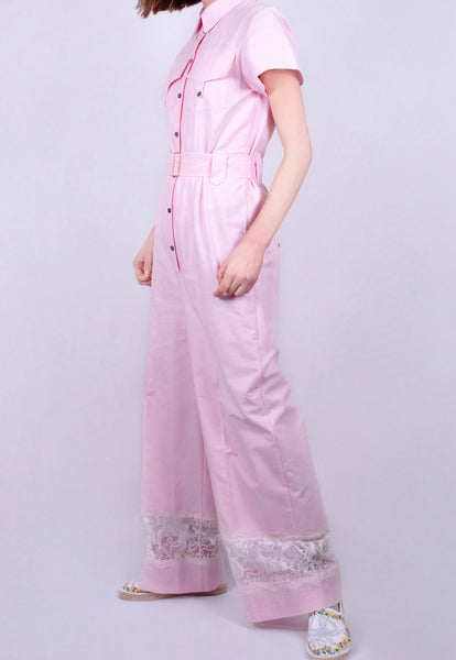 Seashell Pink Lace Jumpsuit