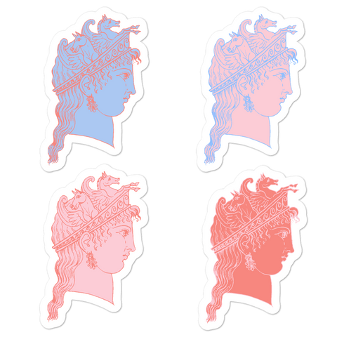 Muse of Pegasus Greek Goddess Vinyl Sticker Set