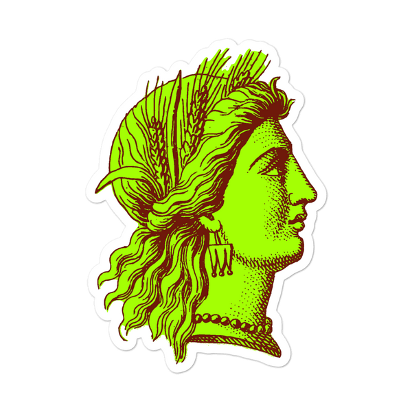 Demeter the Cursed Greek Goddess Cameo Vinyl Sticker