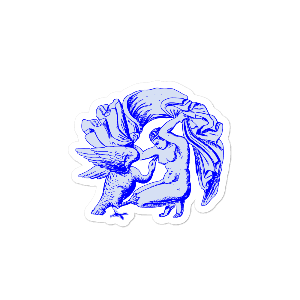 Leda and the Swan Greek Goddess Vinyl Sticker